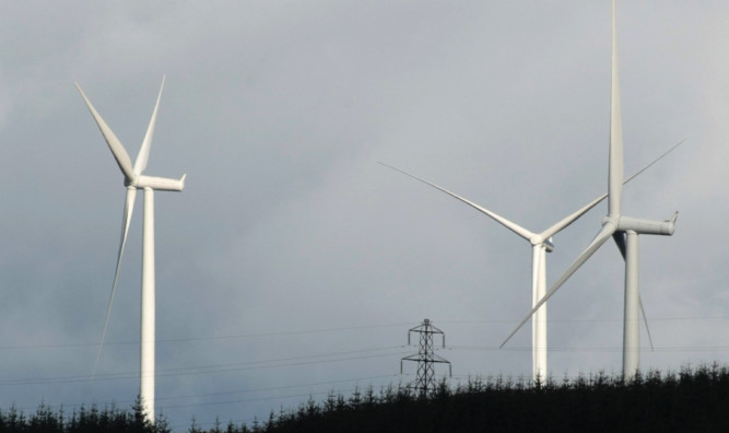 Kim Cessford, Courier 11.10.11 - pictured is the Griffin Wind Farm, Perthshire - for file