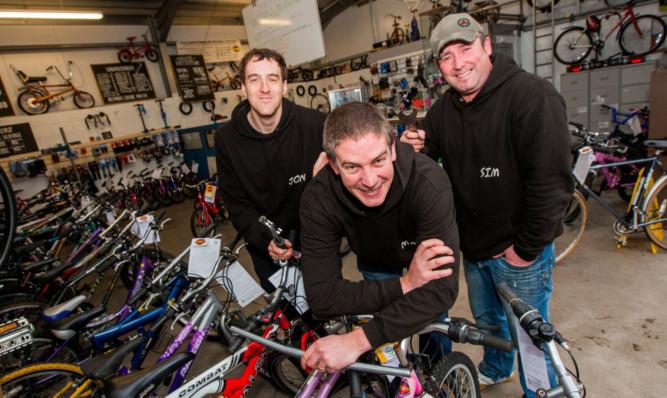 From left: John Robertson, Mark Sinclair and Sim Wyatt.