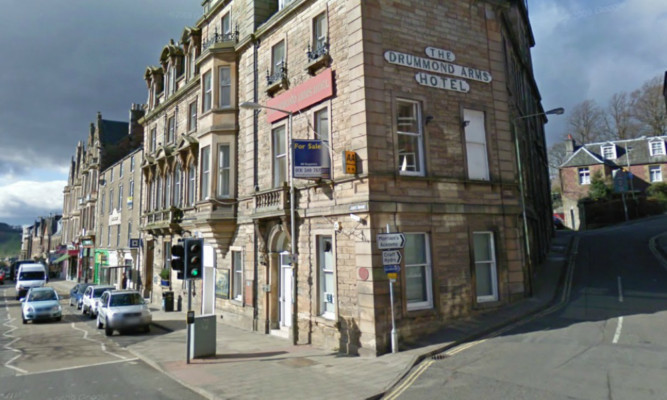 The RBS had occupied a ground floor section of the Drummond Hotel building.