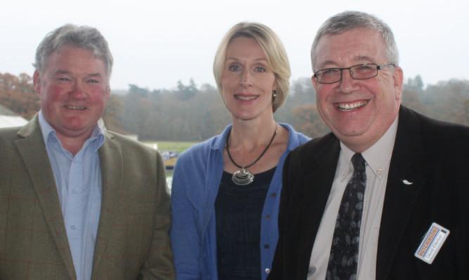 From left: Andrew Gilchrist, Fiona Burnett and Dr David Ellerton.