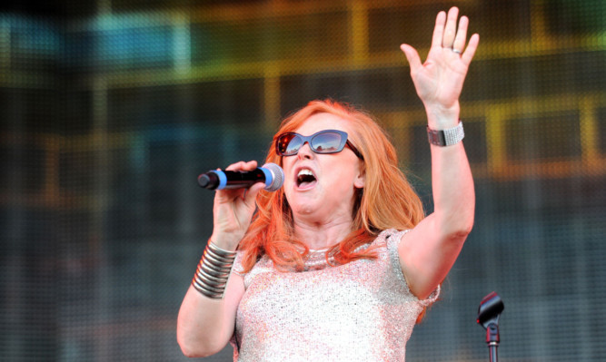 Carol Decker of TPau performing during the Rewind Festival at Scone Palace earlier this year.