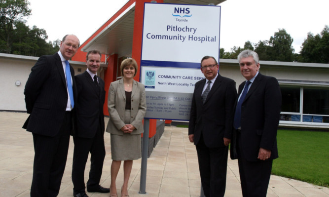 Pitlochry Community Hospital opened with some fanfare in 2008. From left: John Swinney MSP, Pete Wishart MP, now First Minister Nicola Sturgeon, NHS Tayside chairman Sandy Watson and then chief executive Tony Wells.
