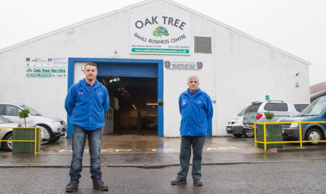 Developers Jason and Jim Baird at the former Ross and Bonnyman building in Forfar.