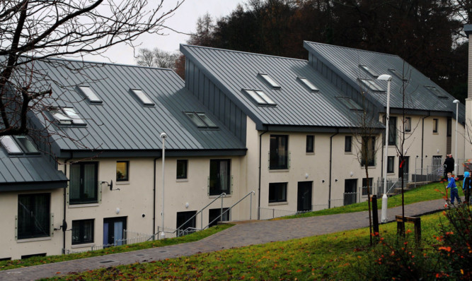 The newly-completed houses at Newmonthill, Forfar.