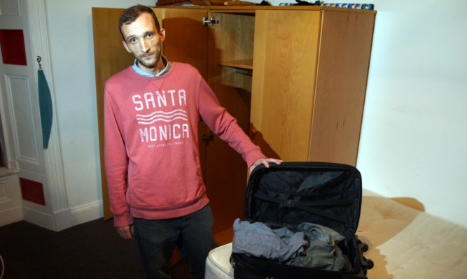 Joe Carnie returned from a trip to find his and his brothers possessions had been removed from their flat.