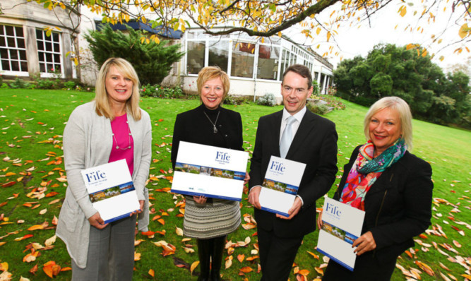 From left: Fife Tourism Partnership manager Ann Camus, Councillor Lesley Laird, Alistair Bruce and Sandra Montador-Stewart of Fife Council.