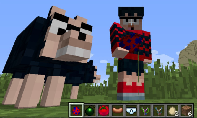 Dennis the Meanace and Gnasher are now available on Minecraft.