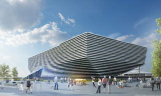 Kengo Kuma's design for the V&A at Dundee.