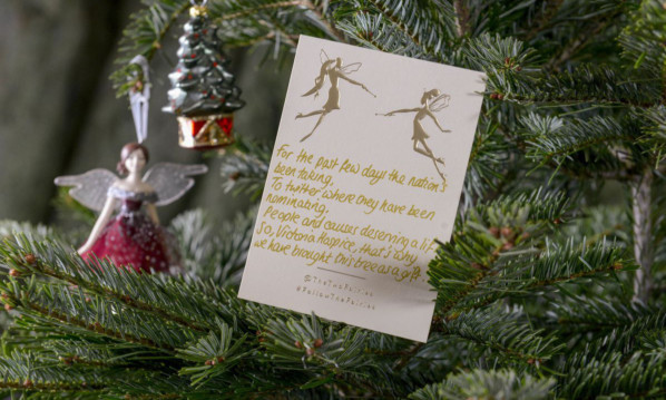 The rhyming note left with the tree.