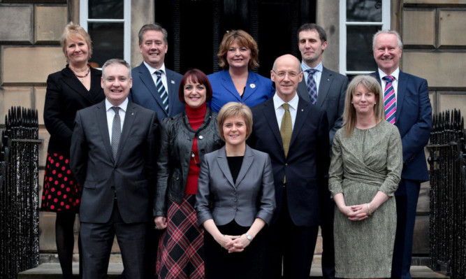 Scotlands role model cabinet with its 50/50 split.