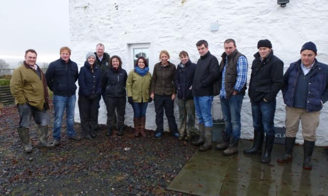All the starter farm tenants got together at Rhynaclach starter farm