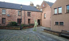 Cumberland Close in Kirriemuir  one of the proposed locations for the statue.