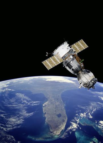 a satellite in orbit