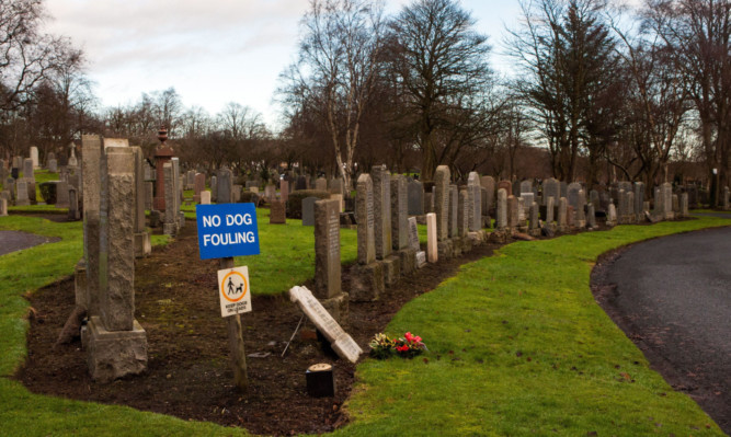 The incident at Dunfermline Cemetery has upset the family.