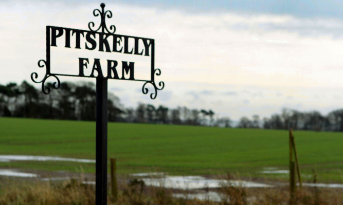 The proposed site off the A92 at Pitskelly Farm.