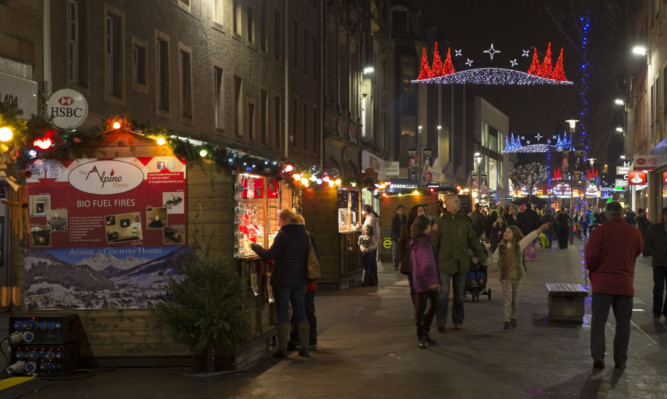 Perth's Christmas market is due to be removed overnight.