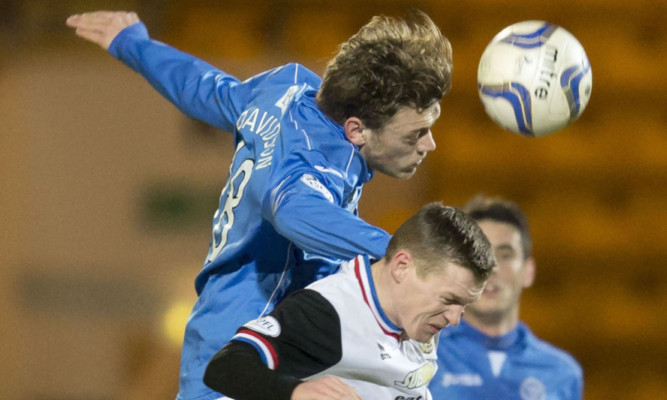 Murray Davidson in action against Inverness.