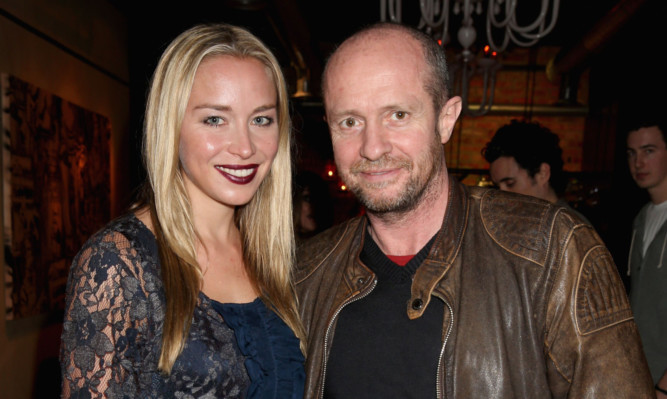 Scot Young with his fiancée Noelle Reno.