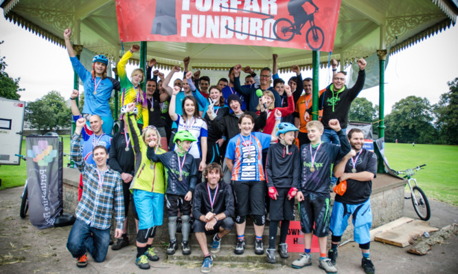 Some of the participants in last years Forfar Funduro Enduro event.