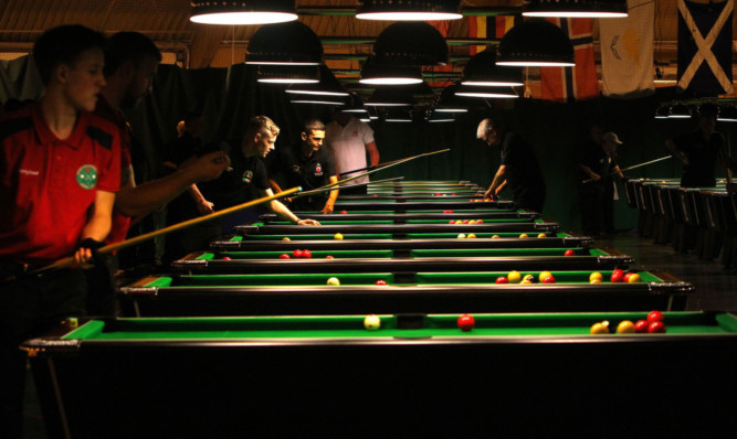 The World Blackball Pool Championships at Bells Sports Centre in Perth in October.