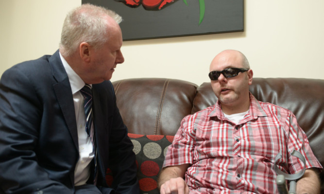 eith Swankie during his meeting with former health minister Alex Neil.