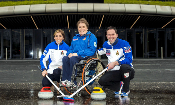 Scotlands three Olympic medal-winning curling captains Eve Muirhead, Aileen Neilson and David Murdoch.