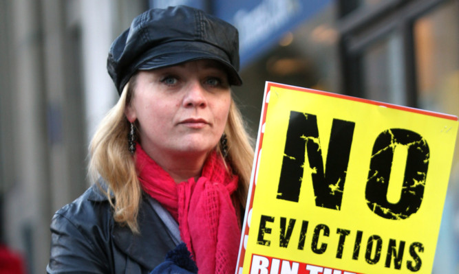 Protestors braved the cold weather in Dundee to campaign against the Bedroom Tax.