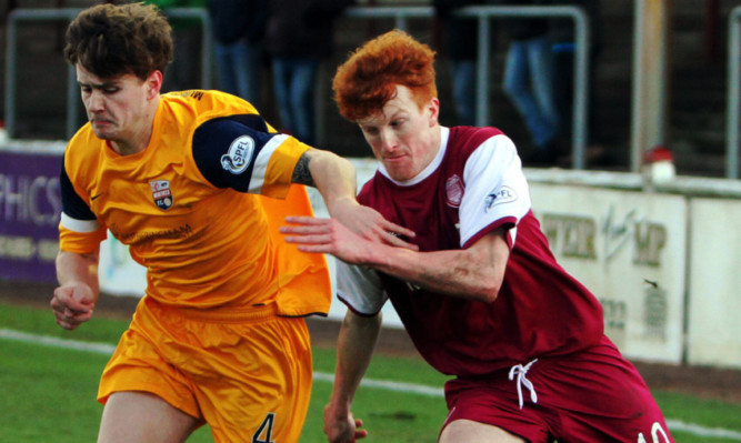 Simon Murray in action against Montrose.
