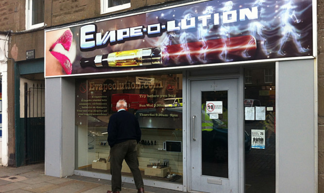 The Evape-o-lution shop in Montrose High Street.