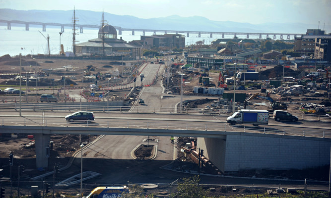 Ross Kerr was nearly twice the legal limit when he crashed into the roadworks at the Dundee waterfront development.