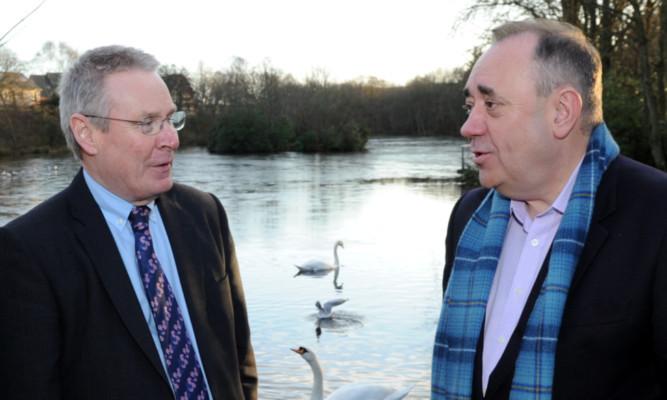 David Knight with Alex Salmond.