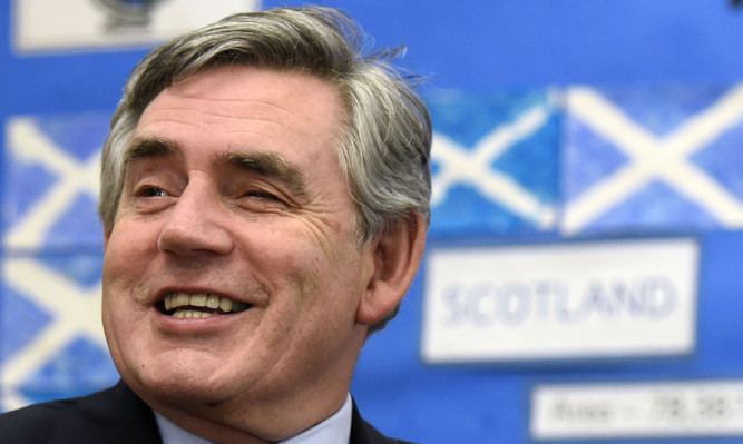 Mr Salmond says Gordon Brown's late intervention swung the referendum to No.