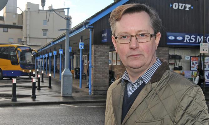 Councillor Alexander Stewart at Perth bus station.