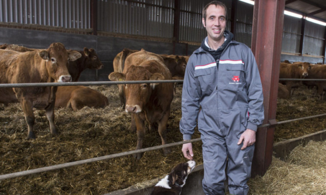 James Gilchrist of West Meikle farm in East Lothian.