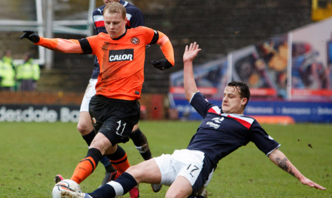 Gary Mackay-Steven playing in Sunday's derby.