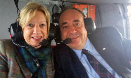 The Salmonds heading home after the referendum result.