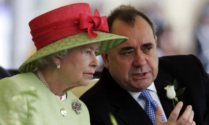 Mr Salmond shares the royals' love of horse racing.
