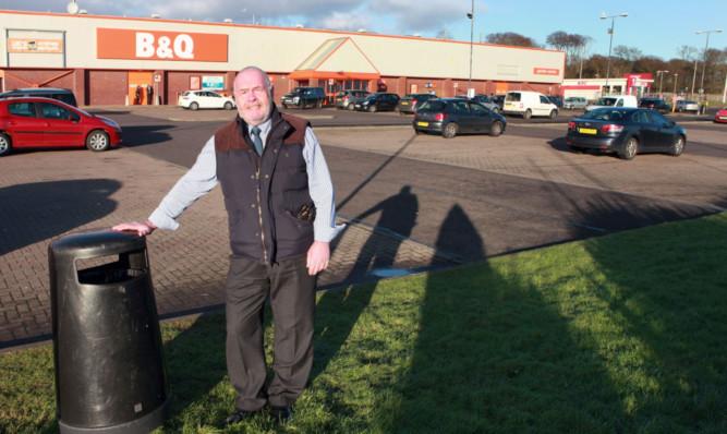 Angus councillor David Fairweather at Westway Retail Park, Arbroath.