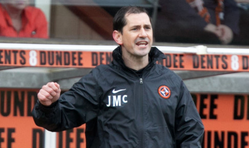 17/03/13 CLYDESDALE BANK PREMIER LEAGUE DUNDEE UTD V DUNDEE (1-1) TANNADICE - DUNDEE Dundee Utd manager Jackie McNamara urges his side on from the dugout.