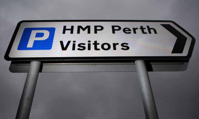 Kris Miller, Courier, 20/02/13. Picture today shows sign for HMP Perth for file.