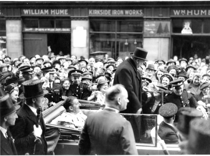 January 30 is the 50th anniversary of Sir Winston Churchills state funeral. While he will always be remember for leading the nation during war, he also has strong links to Courier country as he served as MP for Dundee between 1908 and 1922. Here we present a selection of images from the DC Thomson Archives, beginning with this shot of him meeting crowds in Perth in 1948.