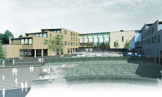 An artist's impression of the new Harris building.