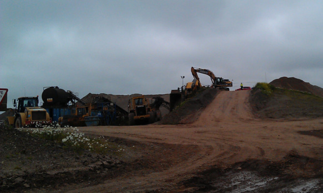 The aftermath of the accident at the Hatton Mill Quarry.