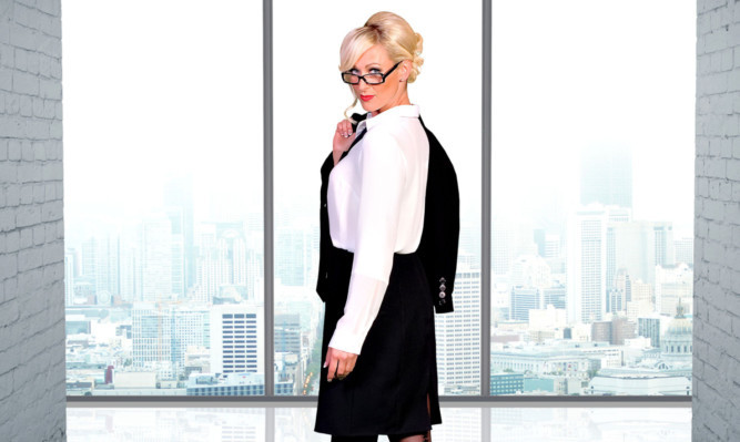 Steps star Faye Tozer in character as Christina Black. She will be bringing the character to the Webster Theatre in April.