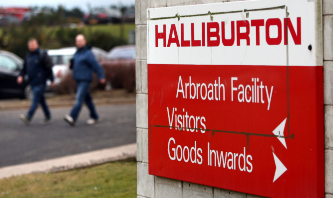 Workers leave the Halliburton factory in Arbroath after the US-owned oil and gas drilling services company announced plans to reduce its global workforce by more than 5,000. It has warned employees the impact will be felt across all areas of its operations, putting jobs at risk at its plant on the Elliot Industrial Estate, which employs more than 275 people.