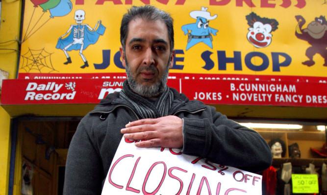 Shabir Gani has so far failed to find a buyer for the shop.