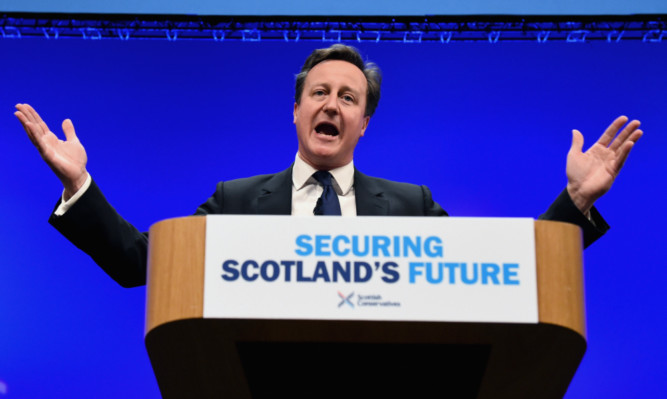 Prime Minister David Cameron has been accused of declaring he didn't care about Scotland.