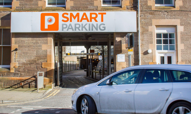 A new meter system is in place at Kinnoull Street car park in Perth.