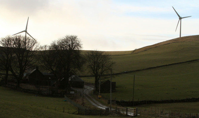 The windfarm at Ark Hill, near Glamis, which has been the cause of noise complaints.