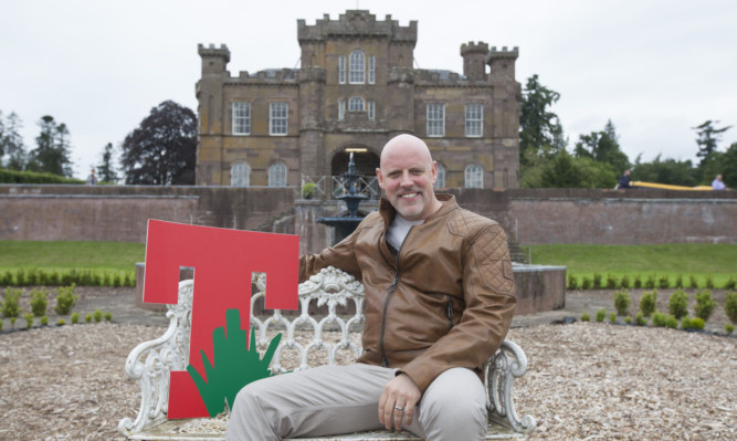 DF Concerts boss Geoff Ellis promoting the planned new Strathallan Castle venue last year.